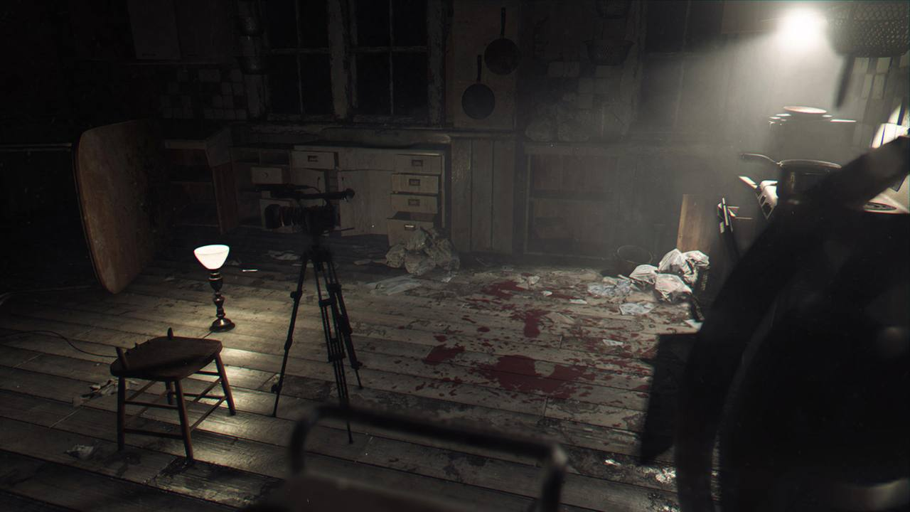Fragmento de la demo 'Kitchen' de Resident Evil 7.
