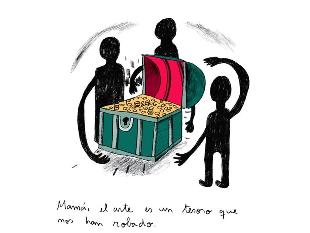 Fragmento de una página de 'El arte'