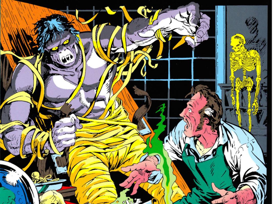 Fragmento de una portada de Mike Ploog para 'Frankenstein'