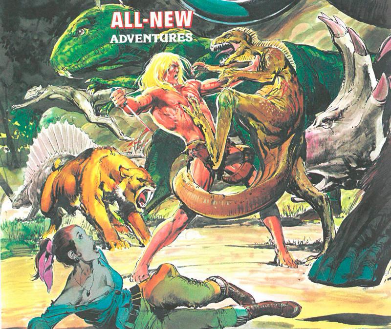 Fragmento de una portada de Savage Tales, de Neal Adams
