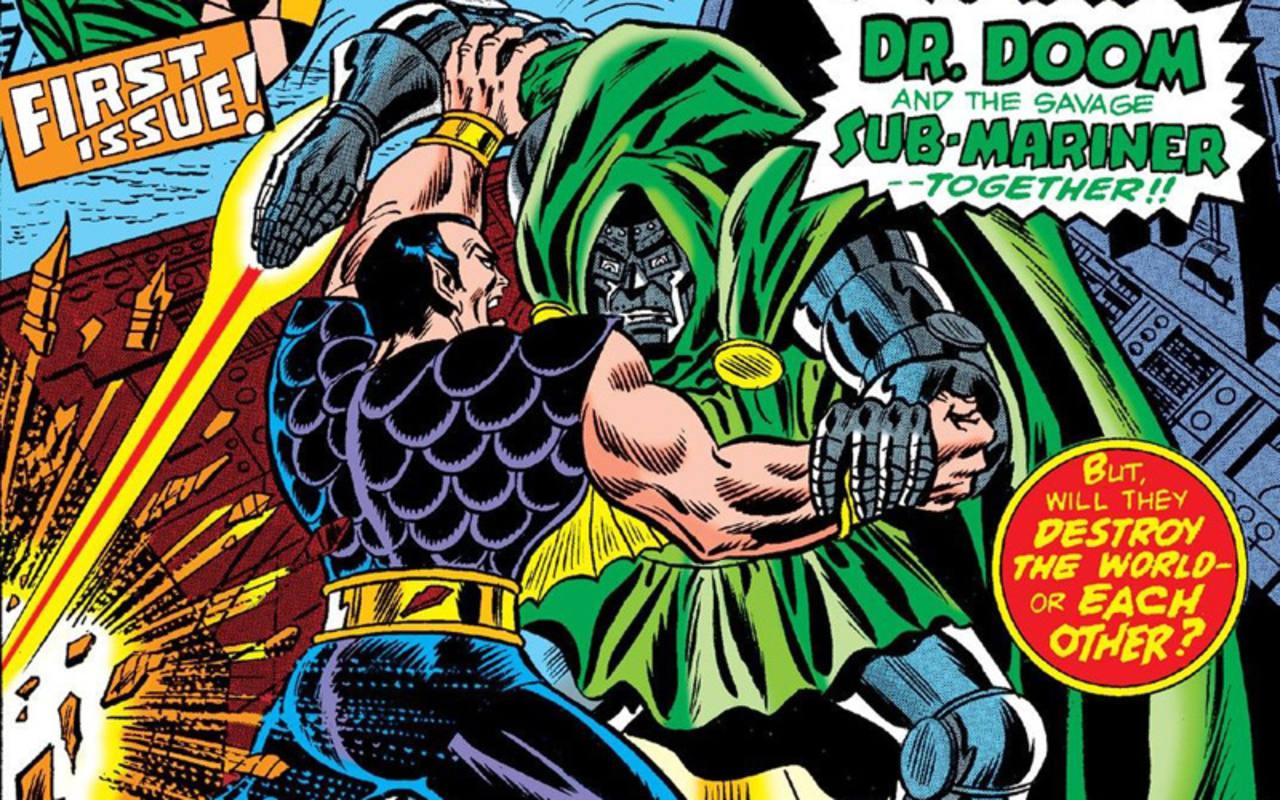 Fragmento de una portada de 'Supervillanos unidos'