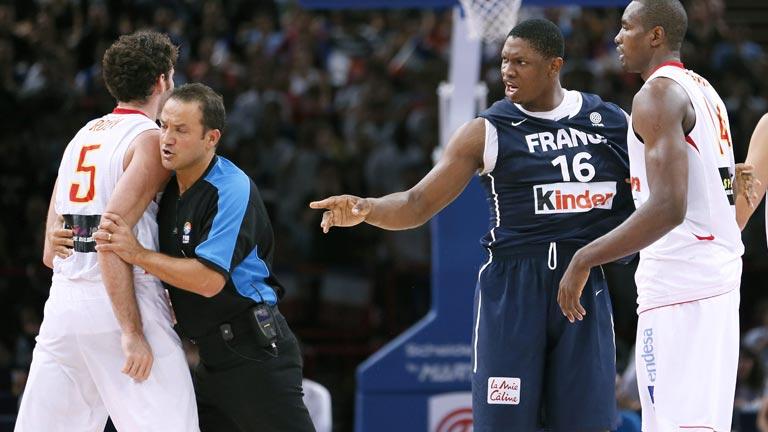 Un Francia-España de baloncesto muy poco amistoso