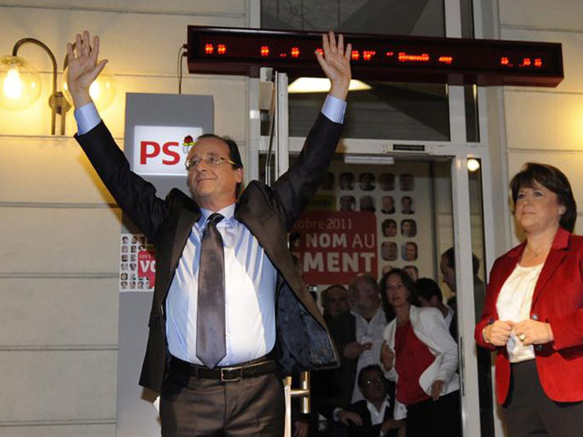 Unidad en torno al candidato socialista Francois Hollande