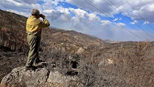 El fuego en Cortes de Pallás está estabilizado y sin llamas