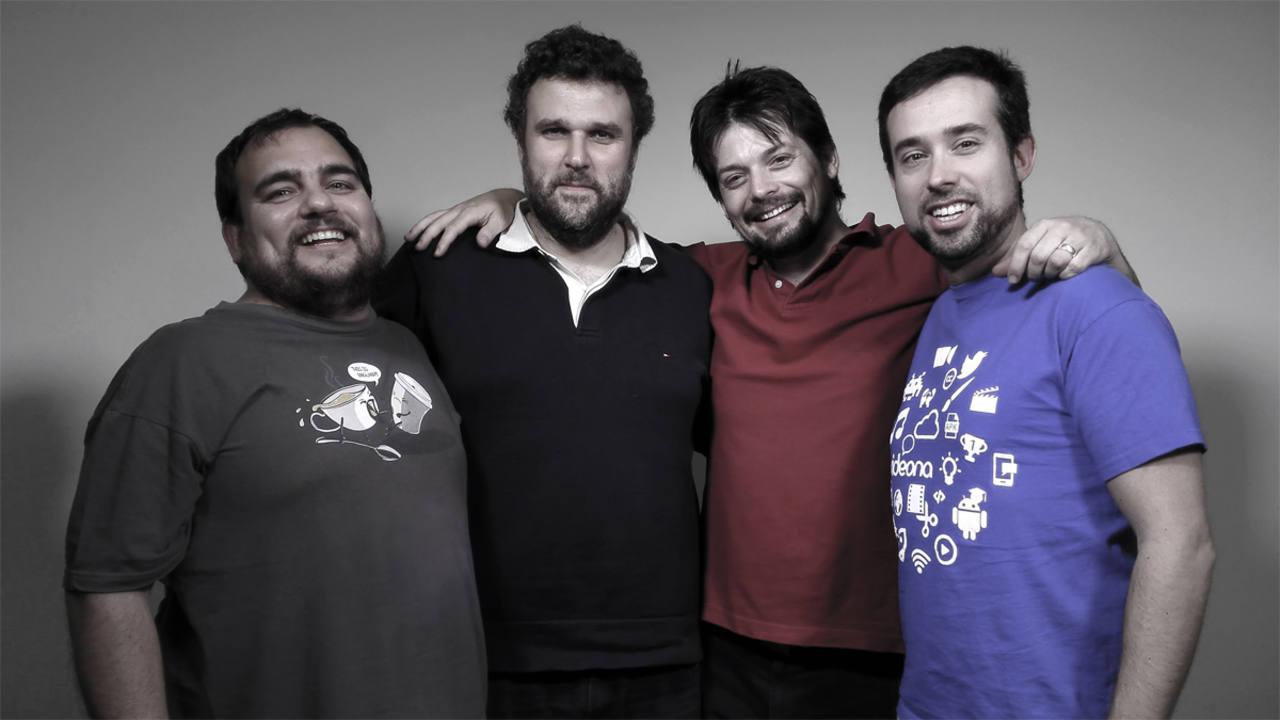 Los fundadores de Videona, de izquierda a derecha: Iago Fernández-Cedrón, David Jiménez, Pablo Fernández-Maquieira y Federico Álvarez.