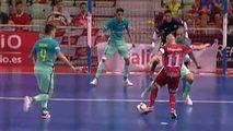 Ir al VideoFútbol Sala - Liga Nacional Play Off Semifinal 1º partido: El Pozo Murcia-FC Barcelona desde Murcia
