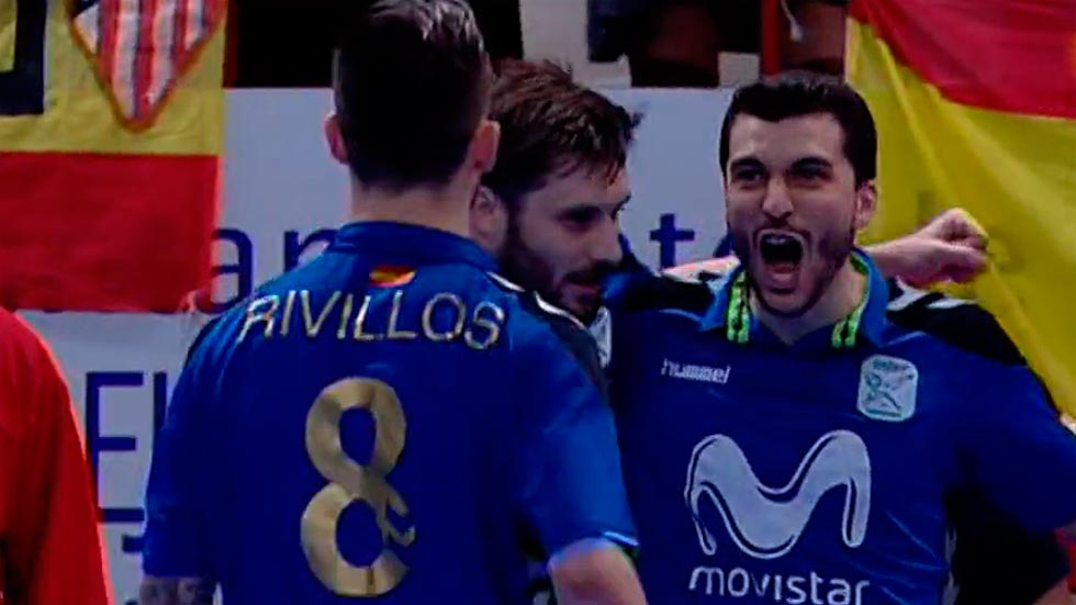 Gadeia adelanta al Movistar Inter en la final (1-0)