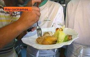 España Directo - Gallo de corral con ostras