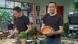 Torres en la cocina - Gambas en gabardina y picantón relleno