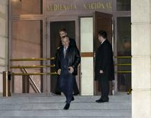 Garzón sale de la Audiencia Nacional