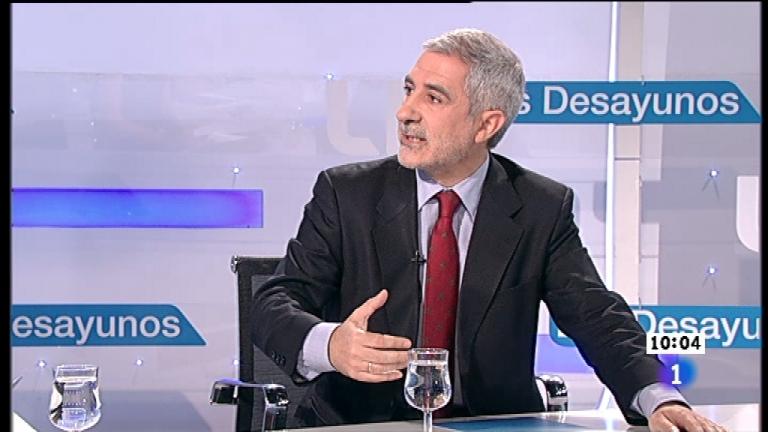 Los desayunos de TVE - Gaspar Llamazares, diputado de IU