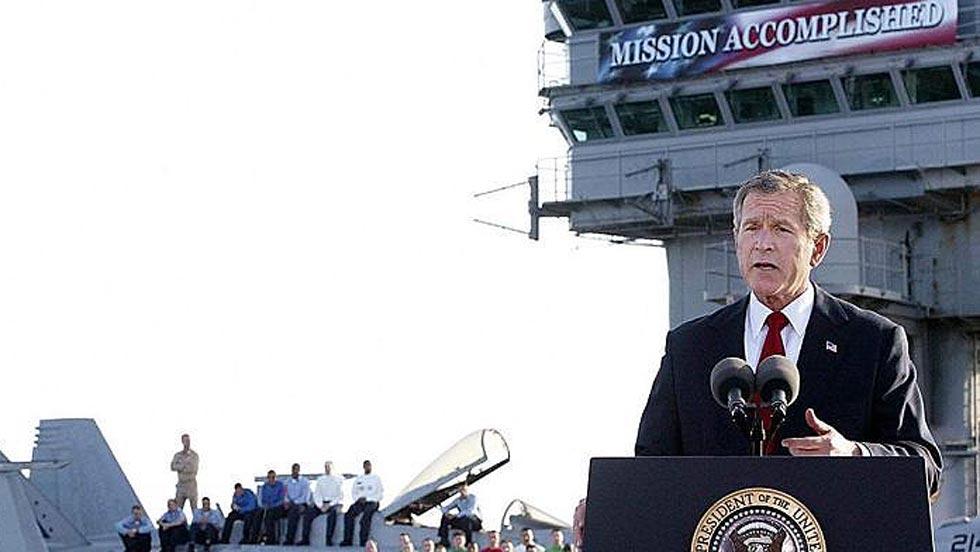 Archivo: George W. Bush declara terminadas las principales operaciones militares en Irak