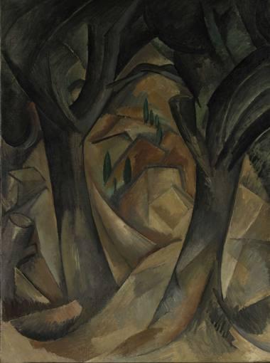 """Georges Braque, """"Árboles en L'Estaque"""" (1908)"""