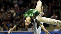 C de Europa. Final aparatos suelo masculino y salto femenino