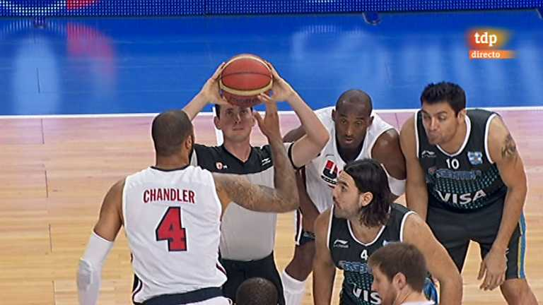 Baloncesto - Gira Preolímpica de la Selección española: EEUU - Argentina