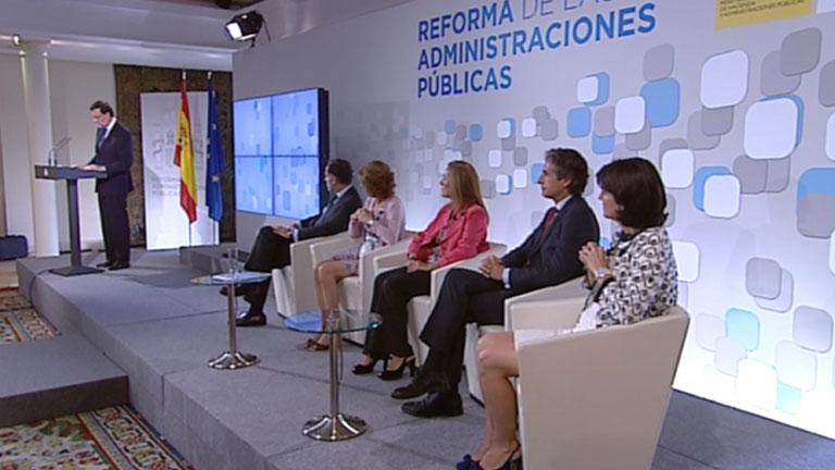 El presidente del Gobierno asegura que la reforma de las administraciones ha permitido ahorrar 10.400 millones