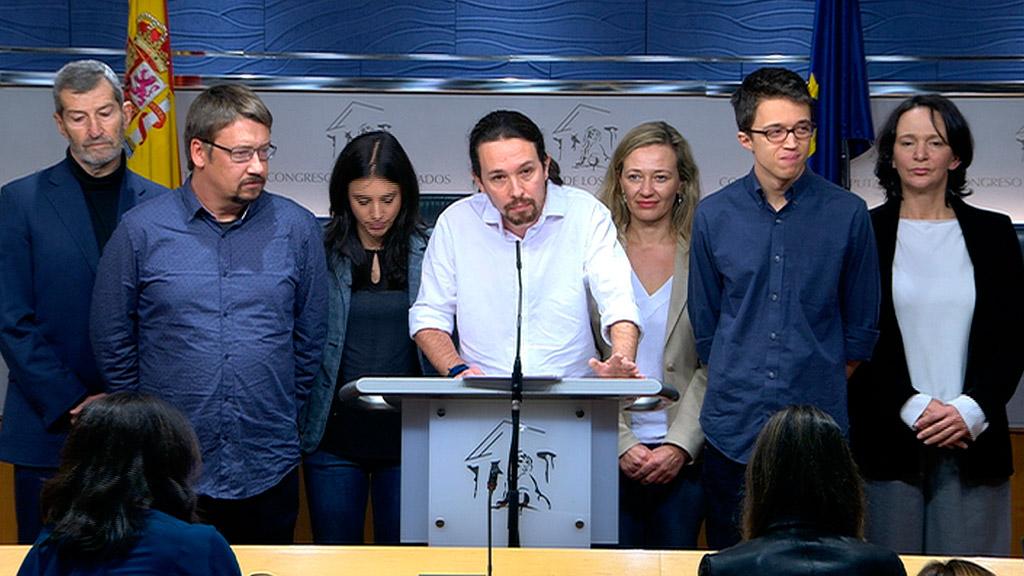 El Gobierno que propone Podemos, con Pedro Sánchez presidente y Pablo Iglesias de vicepresidente