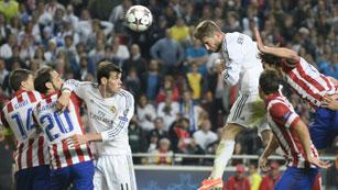El gol de Ramos, en cámara aérea (1-1)