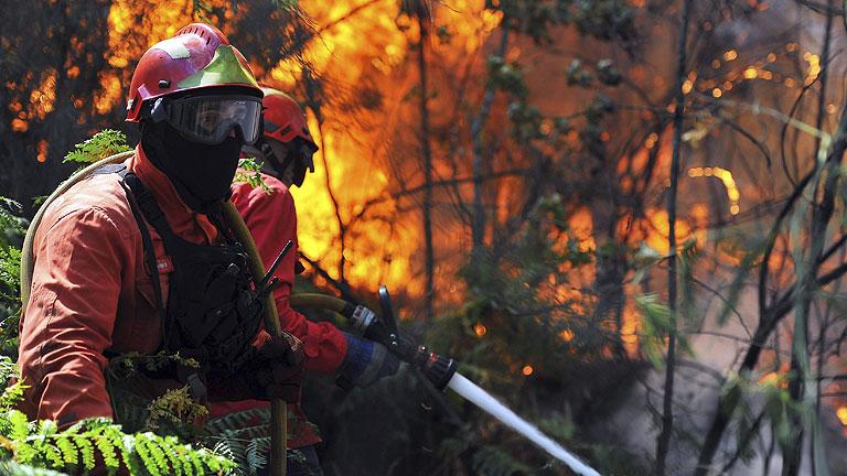 En La Gomera 1.100 vecinos desalojados y el fuego sin estabilizar