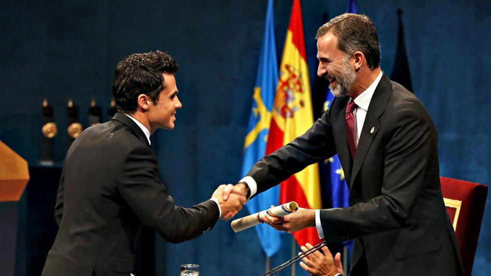Gómez Noya recoje el premio Princesa de Asturias