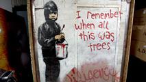 Ir al VideoUn grafiti de Banksy podría superar el medio millón de euros en una subasta
