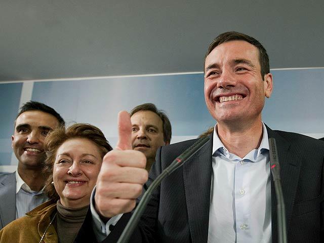 La gran noche de Tomás Gómez, candidato del PSOE a la Comunidad de Madrid