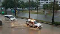 Graves inundaciones en la provincia de Málaga, en alerta roja por las intensas lluvias