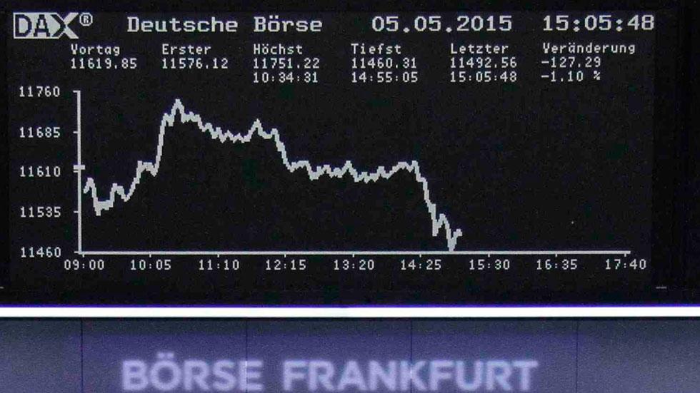 Grecia dispara el interés de la deuda soberana en el mercado secundario y tumba a las Bolsas