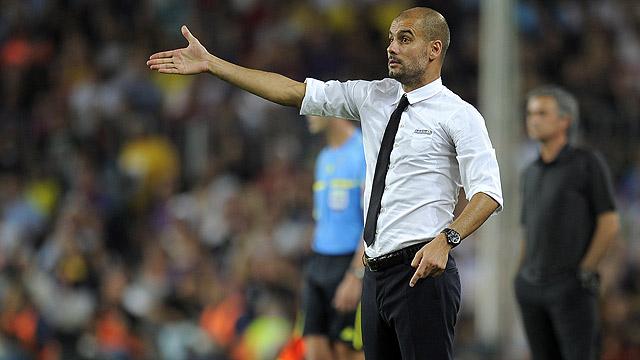 Guardiola felicita a sus jugadores