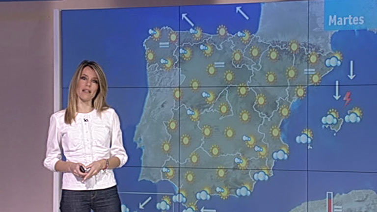 Heladas localmente moderadas en el interior de la Península