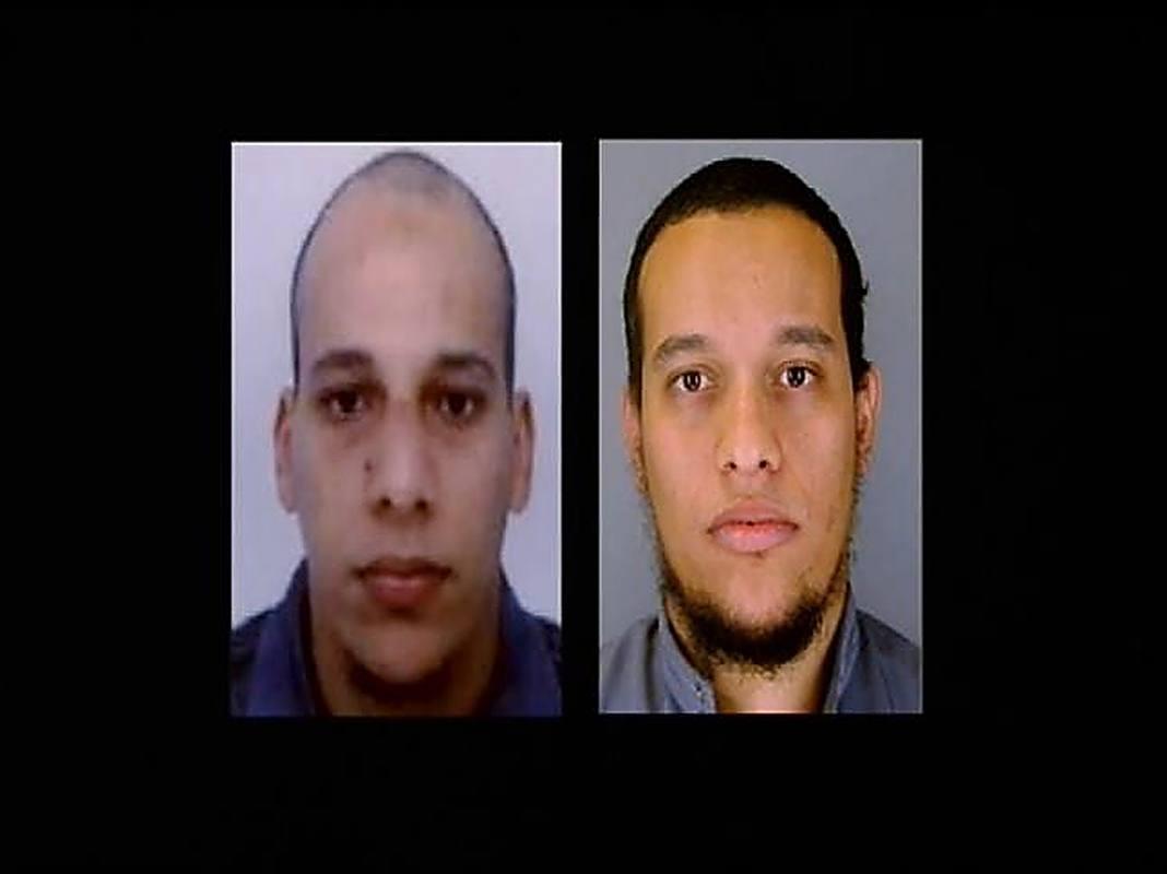 Los hermanos Kouachi, autores del atentado