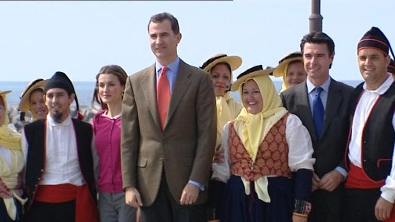 El Hierro recibe el apoyo de los príncipes de Asturias