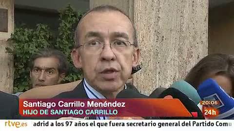 """El hijo de Carrillo: """"Ha sido lúcido hasta el último momento"""""""