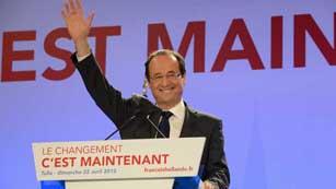 Hollande gana a Sarkozy en la primera vuelta de las elecciones francesas
