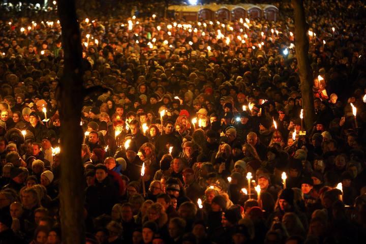 Homenaje a las víctimas de los atentados de Copenhague