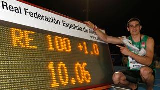 Hortelano bate el récord de España de 100 dos veces en una hora
