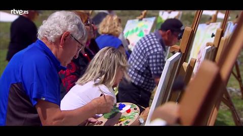 Los huéspedes pintan el paisaje suizo