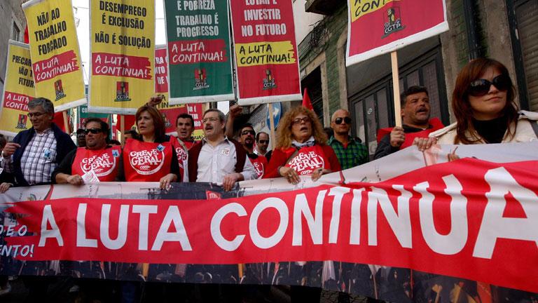 Segunda huelga general en Portugal contra los recortes y la reforma laboral