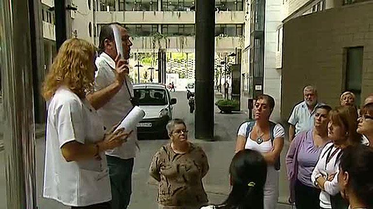 Huelga de los trabajadores de la sanidad pública en Canarias por los recortes