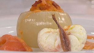 Saber Cocinar - Huevos escalfados con cebolla rellena