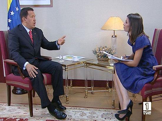 Hugo Chávez, entrevistado en exclusiva en TVE