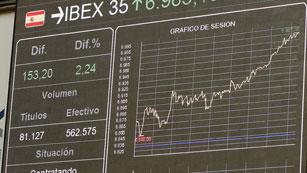 El Ibex-35 sube un 2,72%, su mayor alza en lo que va de año