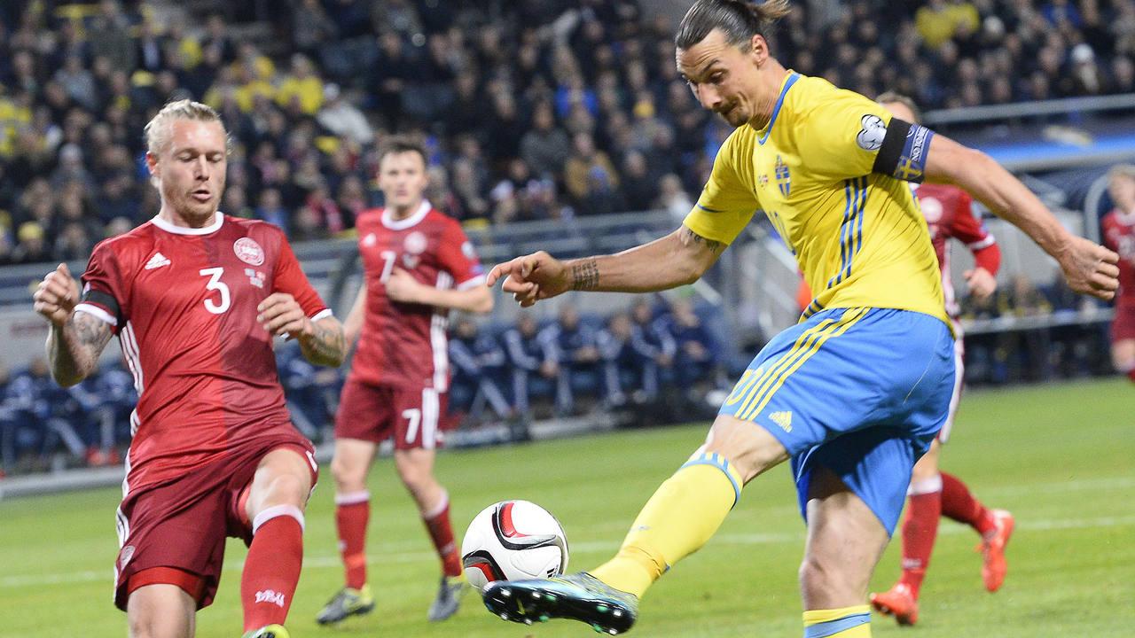 Ibrahimovic, en el Suecia-Dinamarca