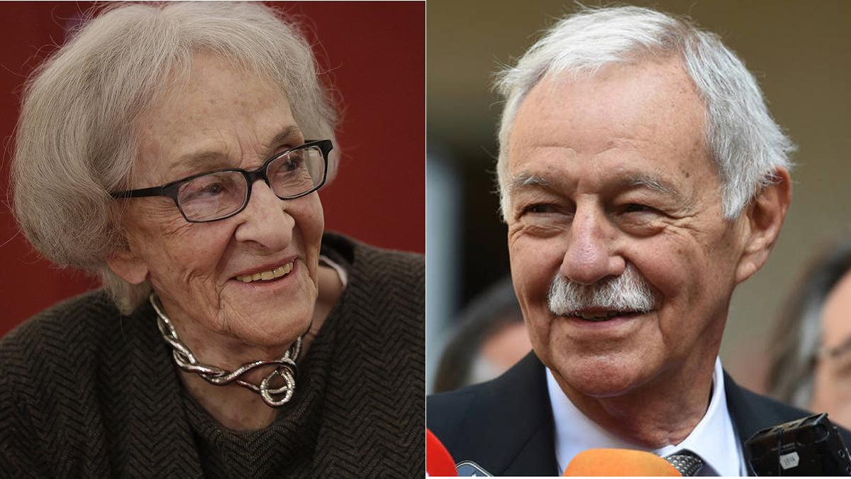 Ida Vitale y Eduardo Mendoza, dos de los galardonados con el Premio Cervantes