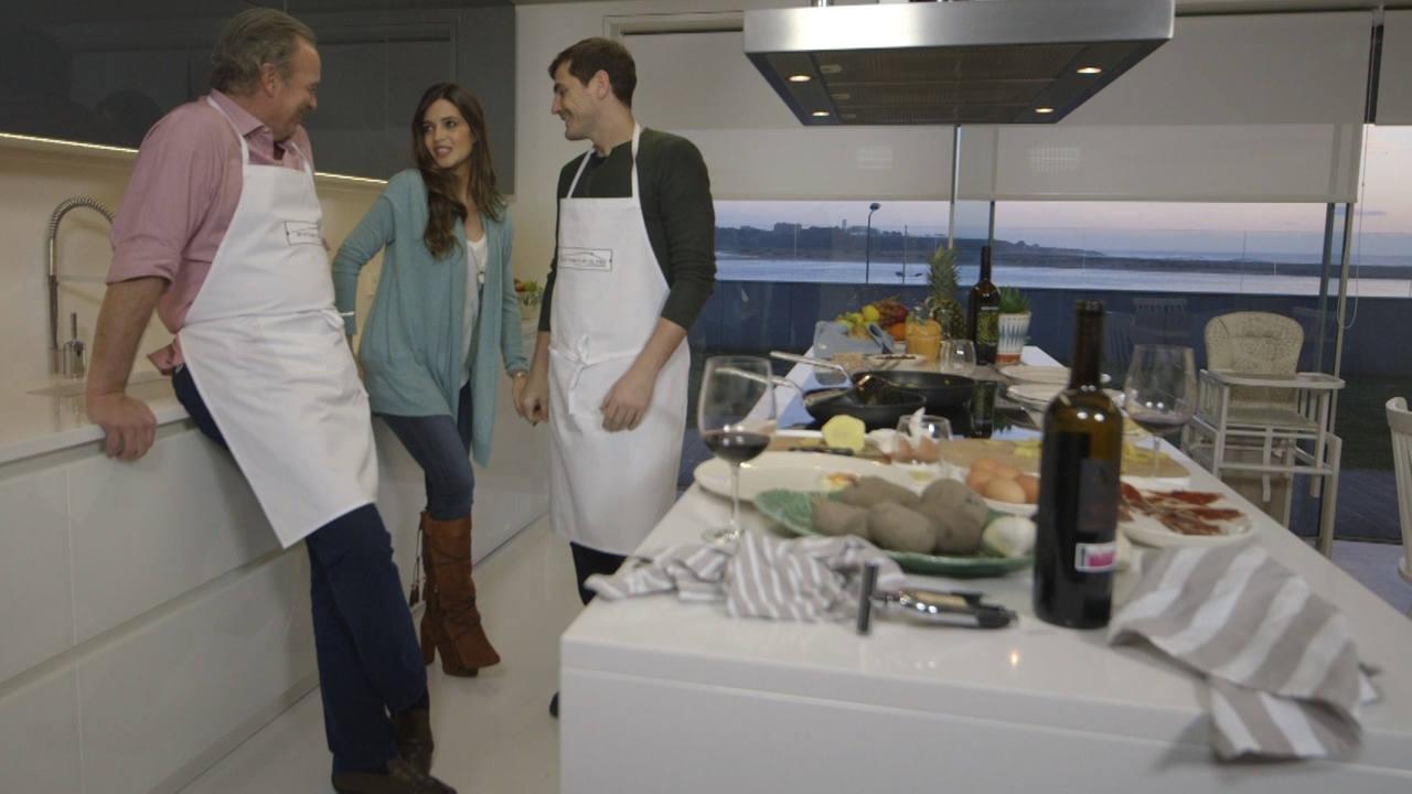 Iker Casillas y Sara Carbonero en 'En la tuya o en la mía'