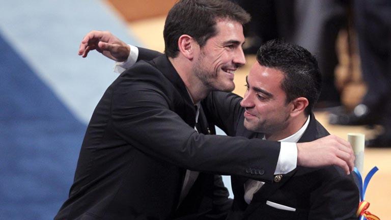 Iker y Xavi recogen el Premio Príncipe de Asturias de los Deportes 2012