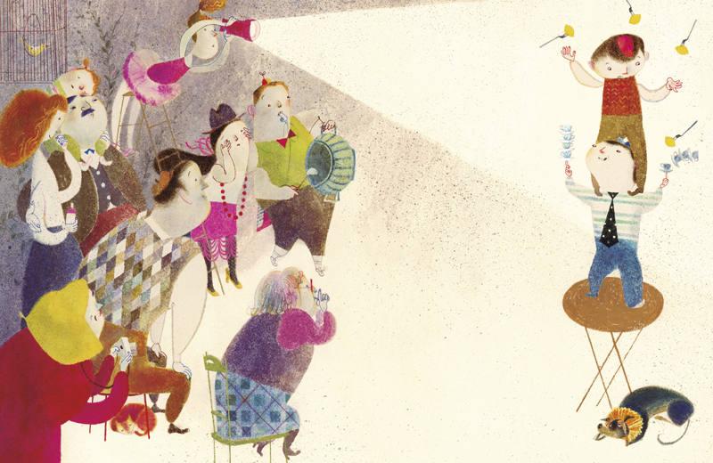 Ilustración de 'La familia de la vajilla impar'