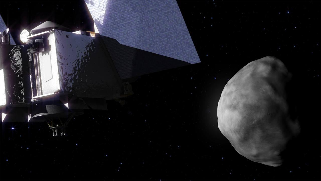 Ilustración que recrea la llegada de la nave Osiris-Rex al asteroide 'Bennu'.