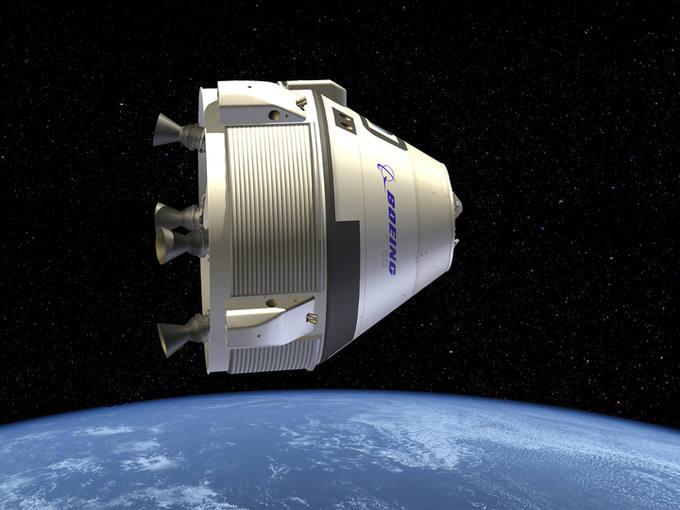 Ilustración que recrea la nave CST-100.