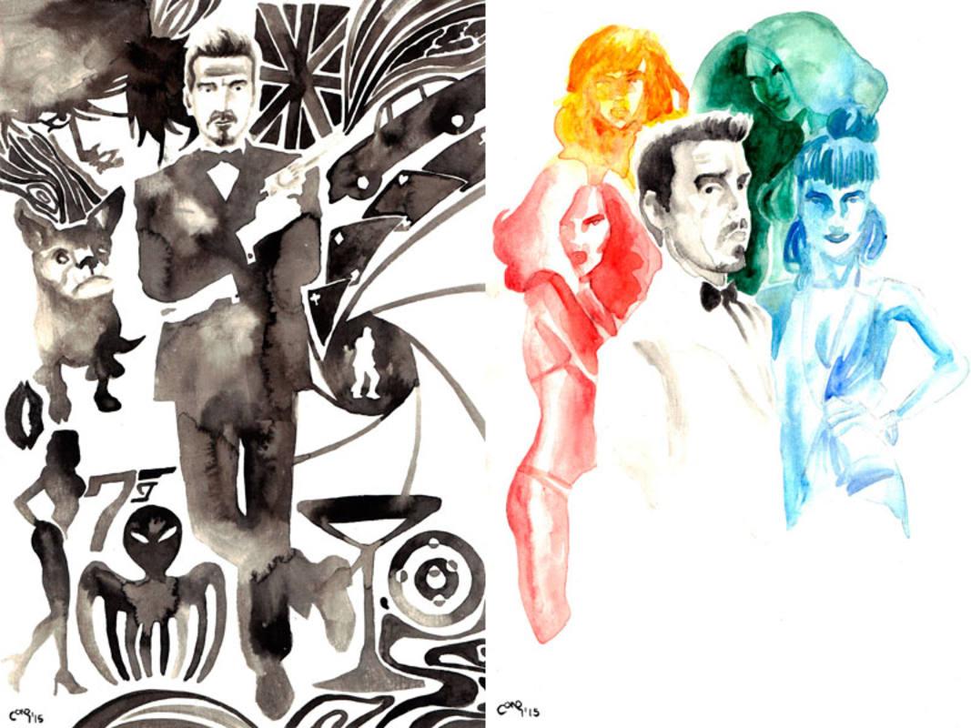 Ilustraciones de Entiman con Doc Pastor en la piel de 007